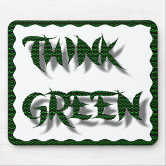THINK GREEN -MOUSEPAD