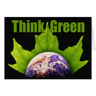 Think Green notecards Note Card