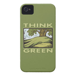 Think Green Oak Tree iPhone 4 Case-Mate Cases