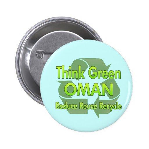 Think Green Oman 6 Cm Round Badge