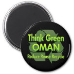 Think Green Oman Fridge Magnet