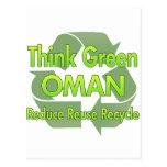 Think Green Oman Postcard