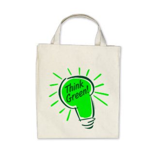 Think Green Organic Grocery Tote Bags