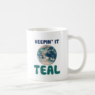 Think Green Parody Basic White Mug