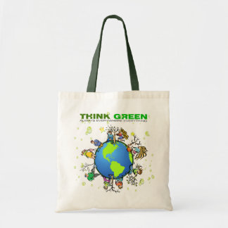 Think Green - Plant a Tree Canvas Bag