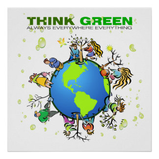 Think Green - Plant a Tree Poster