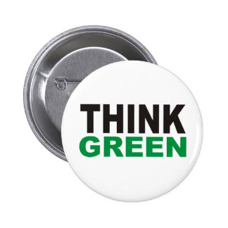 Think Green Products & Designs! 6 Cm Round Badge