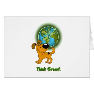Think Green Pumpkin Card