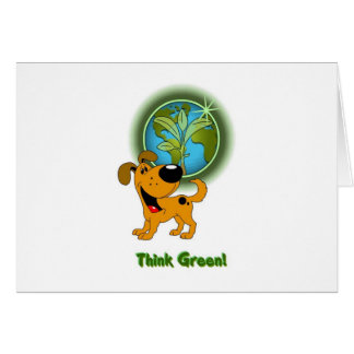 Think Green - Pumpkin Greeting Cards