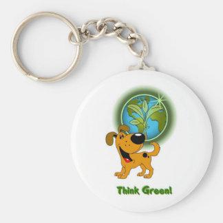 Think Green - Pumpkin Key Chains