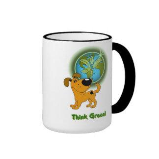 Think Green! (Pumpkin) Ringer Mug