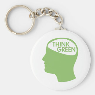 Think Green Recycle Basic Round Button Key Ring
