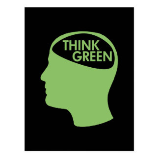 Think Green Recycle dark Postcard