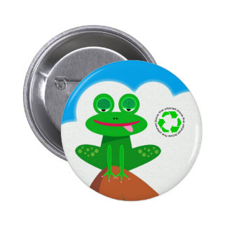 Think Green: Recycling Awareness Button