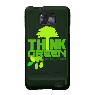 Think Green Samsung case Galaxy S2 Cover