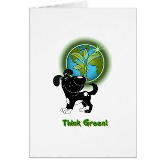 Think Green Shadow Card