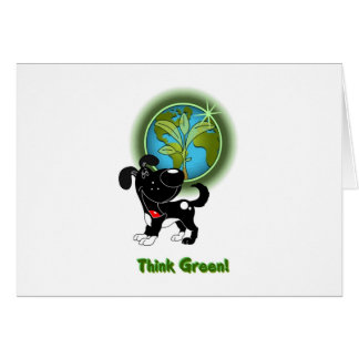 Think Green - Shadow Greeting Cards