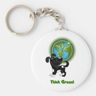 Think Green Shadow Key Chains