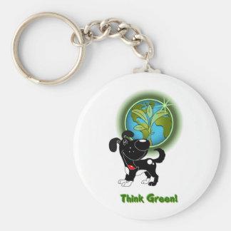 Think Green - Shadow Keychain