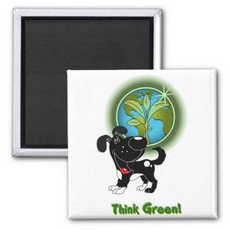 Think Green - Shadow Fridge Magnets