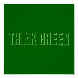 Think Green - Shadow Posters