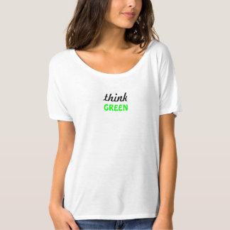 Think Green Slogan T-Shirt