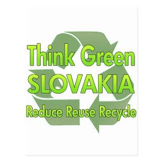Think Green Slovakia Postcard