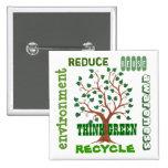 Think Green Tree - Customisable Pin
