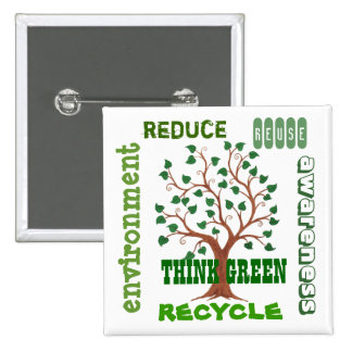 Think Green Tree - Customizable Pin