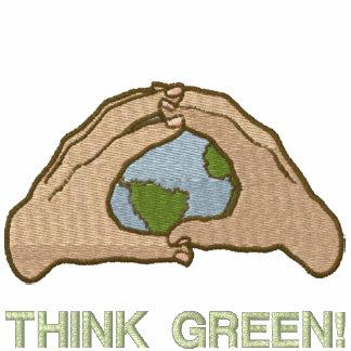 Think Green World Embroidered Hooded Sweatshirt