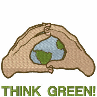 Think Green World Embroidered Sweatshirt