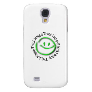 Think Happy (green neon edition) Samsung Galaxy S4 Cover
