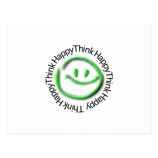 Think Happy (green neon edition) Postcard