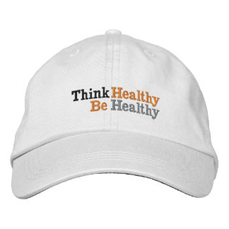 Think Health Be Health Embroidered Baseball Cap