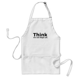 Think it s not illegal yet political gear apron