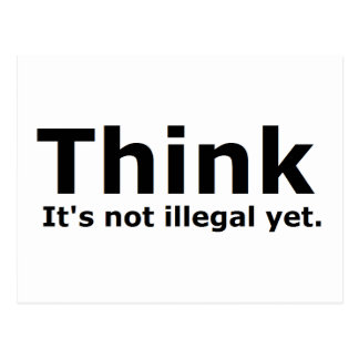 Think it s not illegal yet political gear post cards