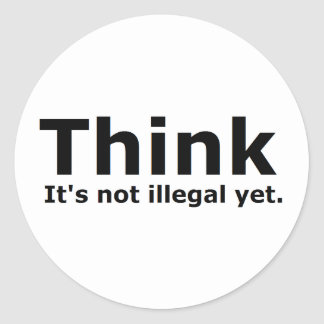 Think it s not illegal yet political gear round stickers