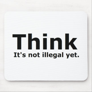 Think it's not illegal yet political gear mouse mat
