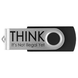 Think It's Not Illegal Yet Thumb Drive Swivel USB 3.0 Flash Drive