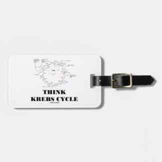 Think Krebs Cycle Citric Acid Cycle - TCAC Luggage Tags