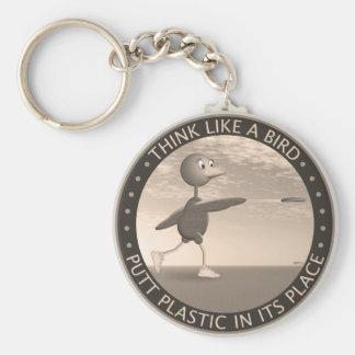 Think Like A Bird Basic Round Button Key Ring