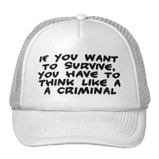 Think Like A Criminal Cap