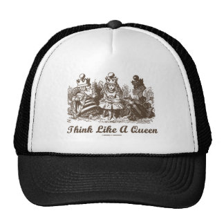 Think Like A Queen Alice White Queen Red Queen Hat