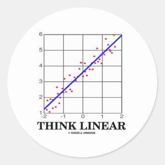 Think Linear Linear Regression Statistics Sticker