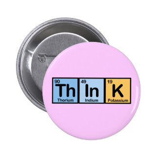 Think made of Elements 6 Cm Round Badge