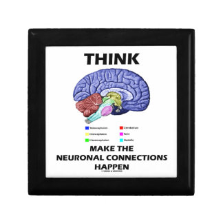 Think Make The Neuronal Connections Happen Brain Trinket Boxes
