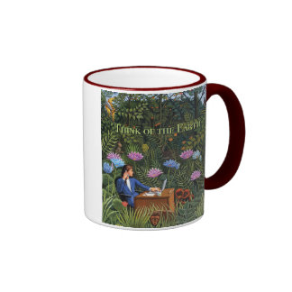 Think of the Earth Cup Ringer Mug