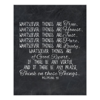 Think on These Things Christian Bible Scripture 11.5 Cm X 14 Cm Flyer