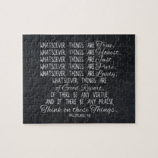 Think on These Things Christian Bible Scripture Jigsaw Puzzle