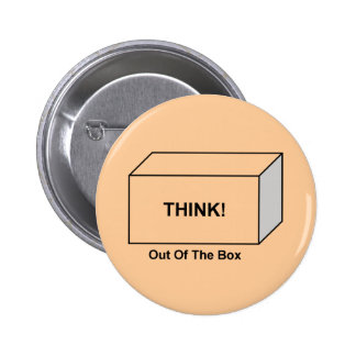 Think out of the Box 6 Cm Round Badge